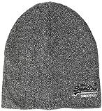 Superdry Herren ORANGE Label Beanie Strickmütze, Grau (Basalt Grey Grit Q6s), One Size (Herstellergröße: OS)