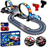 New Large Remote Control Light Up Slot Car Racing track Kids Toy Childrens Game Boys Xmas Gift - Eurotrade W Ltd - amazon.co.uk