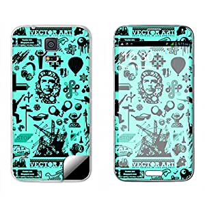 Skintice Designer Mobile Skin Sticker for Samsung Galaxy S5 G900X, Design - Quirky place