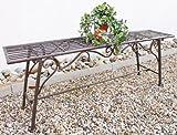 San Marco Gartenbank Wetterfest ohne Rückenlehne aus Metall Braun CUCCIU-XL