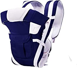 Chinmay Kids® Baby Carrier 4 in 1 Carry Bag Baby Carrier Cuddler (Air Mash Fabric) (Dark Blue)