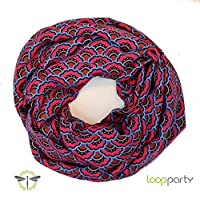 Loop-Schal Damen, rot, weiche kuschelige Viskose