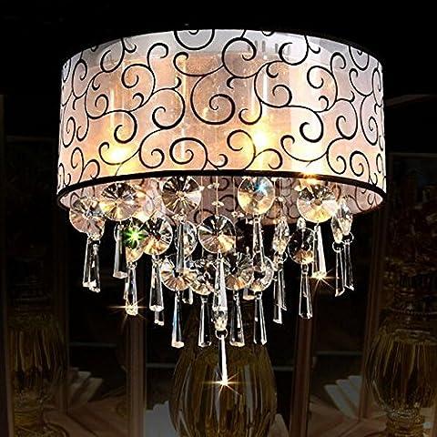 Bazaar Lámpara del dormitorio del fashional salón moderno romántico e14 luz de techo de cristal