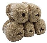 ALIZE 5 x 100 g Strickwolle mit 20% Wolle, Sand beige 543 zum Stricken und Häkeln, 500 Gramm Wolle