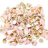 Lanxi 300piezas pulgar tachuelas aviso Junta mapa plástico cabeza redonda de chinchetas chinchetas, color rosa