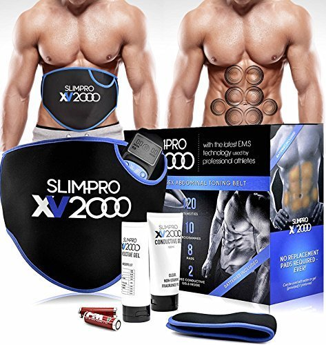 Slim-Pro XV2000 Ab Toning Belt For Slender Toned Stomach / Abdominal Muscles...