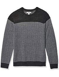 Marchio Amazon - Goodthreads Merino Wool Crewneck Herrinbone Sweater Uomo