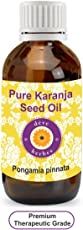 Deve Herbes Pure Karanja Seed Oil 100ml (Pongamia pinnata) 100% Natural Therapeutic Grade