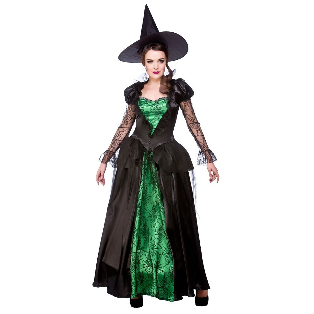 Emerald Witch Queen - Adult Costume Lady: XS (UK: 6-8): Amazon.co ...
