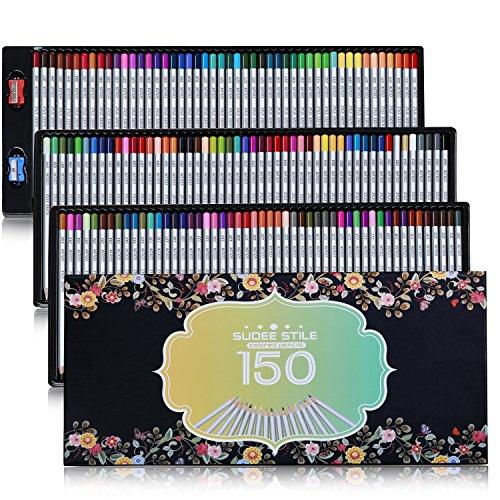 sudee-stile-buntstiefte-150-einzigartige-farben-keines-duplikat-bleibstifte-farbestifte-set-mit-kast