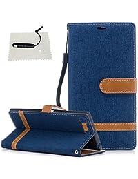 TOCASO Mandala Embossed Vintage Denim Tasche Schutzhülle für Sony Xperia X1