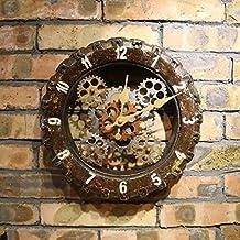 Decoración De La Pared Antigua Hecha De Neumáticos Viejos Reloj De Pared Del Engranaje Del Hogar Del Reloj De Pared 30cm