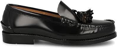 PAYMA - Mocassini Scarpe Loafer Castellano in Pelle da Uomo, Prodotto in Spagna. Scarpe Classiche Mascherina e Nappe per Cavaliere, Suola in Gomma Molto Flessibile, Pelle Antirughe
