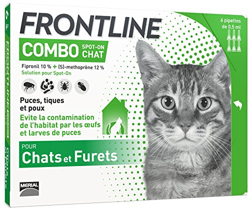 FRONTLINE Combo Chat - Anti-puces anti-tiques chat - 6...