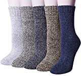 Chalier 5 Paar Damen Winter Wollesocken, Super Weiche Dicke Warme Socken für Business und Freizeit- Einheitsgröße, Farbe: Mix1