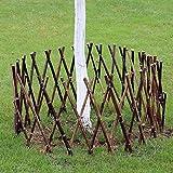 JIANFEI-weilan Steccato Giardino Legno Recinzione di bambù Guardavia del Bambino Bordo Aiuola Decorazioni per La Casa Impermeabile, 2 Colori, 4 Taglie (Color : A, Size : 90x180cm)