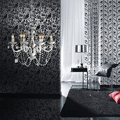 lounge-zone Kronleuchter, Lüster Blanc, Acrylglas, 6-armig, weiß PID 5923 von lounge-zone - Lampenhans.de