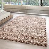 Shaggy Tapetes y alfombras sala de estar monocromo alta pila alfombras y moquetas 5555, Tamaño:300x400 cm, color:Beige