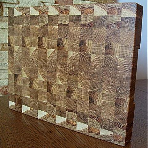 Tagliere Grande End Grain Chopping Board Cutting Board Butcher Block Large Oak 40x31x4cm / (Tagliere End)