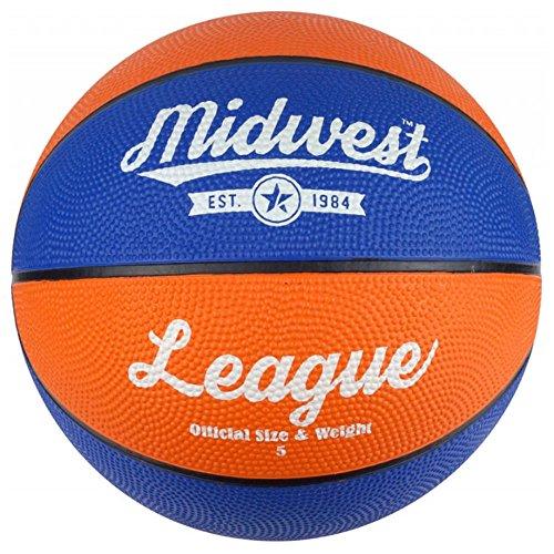 Midwest Liga–Balón de baloncesto (todas las tallas–amarillo/morado o azul/naranja, azul y naranja