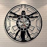 BiuTeFang Wanduhr Schallplatten Vinyl Empire Star Wars Kreative Handarbeit Vinyl Uhr Wand