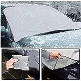Quinta Gear® 2unidades para proteger magnético coche parabrisas parabrisas de sol, hielo, hielo y nieve All Weather Shield Protector de Cubierta