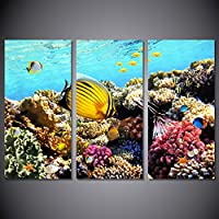 ISAAC ENGLAND HD Impreso Marine Fish Coral Dolphin Pintura Impresión en Lienzo Habitación Decoración Imprimir Poster