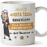Mugffins architetta Tazze Originali di caffè e Colazione da Regalare Lavoratori e Professionisti - Questa Tazza…