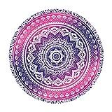 Asciugamano Teli da mare Mandala rotonda Roundie Beach Gettare Arazzo Hippy Boho Gypsy Tovaglia in cotone Telo da mare (D)