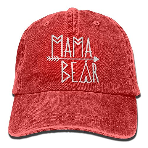Mama Bear Denim Hat Adjustable Women Dad Baseball Hat