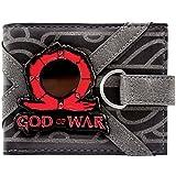 Cartera de God of War Metálico Juego Logo Omega Runa Negro