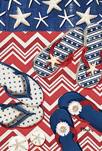 Toland Home Garden American Beach Garden Flag, tessuto, Multicolored, s