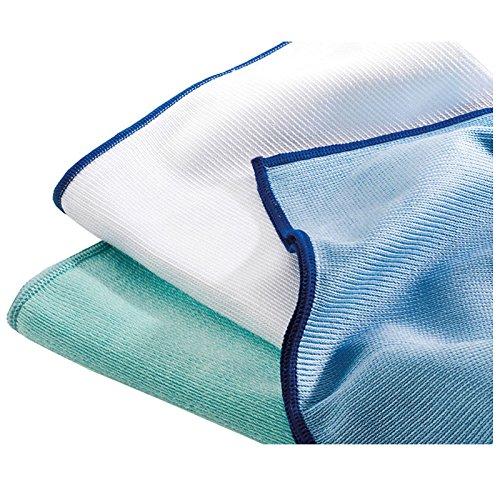 Reinigungsladen Mikrofaser Polier- & Geschirrtuch 50x70cm Microfaser Tuch Poliertuch Reinigungstuch Glasreinigung Weiß