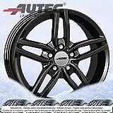 4 Winterräder Autec Kitano 8.0Jx17 ET34 5x120 schwarz mit 225/60 R17 103V XL Hankook Winter i*cept evo W310 für BMW X3 X4