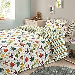 3piezas–Juego de funda de edredón con fundas de almohada de funda de edredón juego de ropa de cama Colección Infantil 11marca nuevos diseños, algodón poliéster, diseño de dinosaurio, Doublé