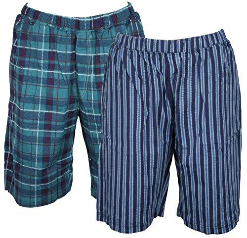 tom-franks-2-pack-mens-impreso-salon-pijama-shorts-verde-verduras-medium