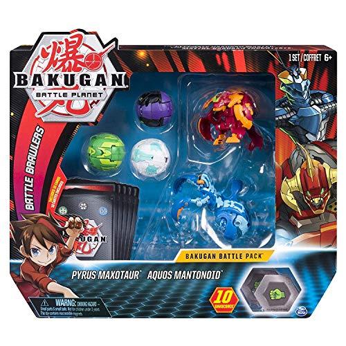 BAKUGAN Battle Pack 5-Pack Pyrus Maxotaur & Aquos Mantonoid