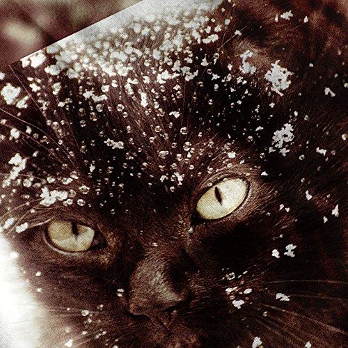 Niedlich Kätzchen Meowy Weihnachten Damen Schwarz S-2XL Muskelshirt | Wellcoda Marine
