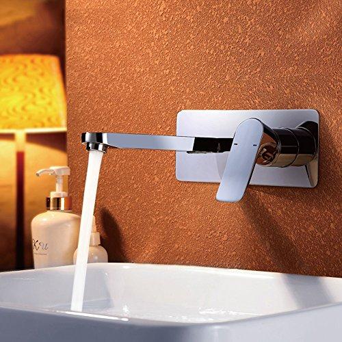 Pumpink In die Wand Alle Bronze Hot und Cold Verdeckte Bassin Wasserhahn Badezimmer Auf Bühne Waschen Sie Ihr Gesicht Waschen Hände Gemüse Shampoo Waschbecken Spray Mixer Tap (Waschen Spray Gemüse)