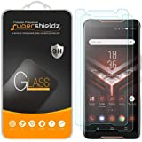 Asus Rog Phone Tempered Glass Screen Protector (2 packs) Anti Scratch, Bubble Free, Anti-Fingerprint, Ultra Clear, Supershiel