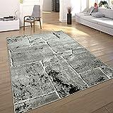 Paco Home Designer Teppich Modern Trendig Meliert Steinoptik Mauer Muster Wohnzimmer Grau, Grösse:200x280 cm