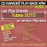 CD Karaoké Play-Back KPM Vol.42 Tubes 2015
