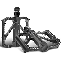 """Sugelary Bike Pedals, Super Bearing Mountain Bike Pedals, Aluminum Alloy DU Spindle 9/16"""" Road Bike Pedals with Sealed…"""