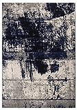 andiamo 1100511 Vintageteppich Puerto / Robuster Teppich in Blau-Creme für eine schicke Inneneinrichtung / 1 x Wohnzimmerteppich (120 x 170 cm)