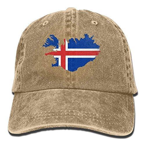 2018 Adult Fashion Cotton Denim Baseball Cap Iceland Map Flag Classic Dad Hat Adjustable Plain Cap cool caps - Ringe Cz Herren Alle
