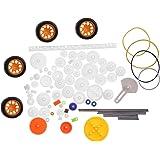 78 unids engranajes de plástico buje de la correa del eje polea correa gusano Kits Kits conjunto de engranajes correa del eje