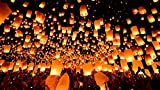 Deal Bindaas Sky Lantern Assorted (Pack of 15)