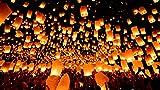 #7: Dealbindaas Flying Lantern Flying Saucer's Flying Lantern Sky Lantern-Pack of 15