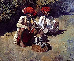 The Museum Outlet - Edwin Lord Weeks - The Snake Charmers Bombay - Poster Print Online (24 x 18 Inch)