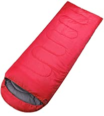 IRIS Sleeping Bag Envelop 3 Season Ultra Light Portable Waterproof Comfort for Camping, Backpack & Outdoor